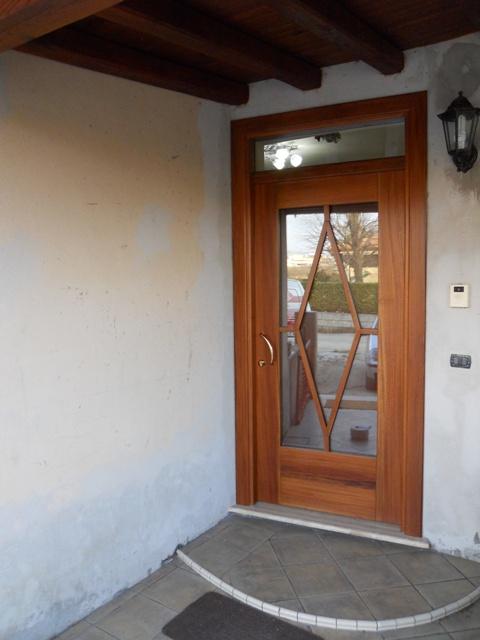 portone ingresso portone ingresso in niancon parte esterna e ciliegio ...