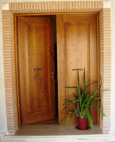 portone d ingresso portone d ingresso 2 ante in legno di castagno ...
